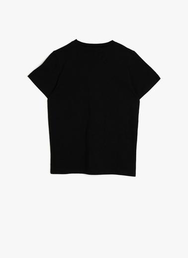 Koton Kids Atatürk Baskili T-Shirt Siyah